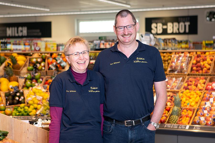 EDEKA-Marktinhaber Georg und Ingeborg Wittmann