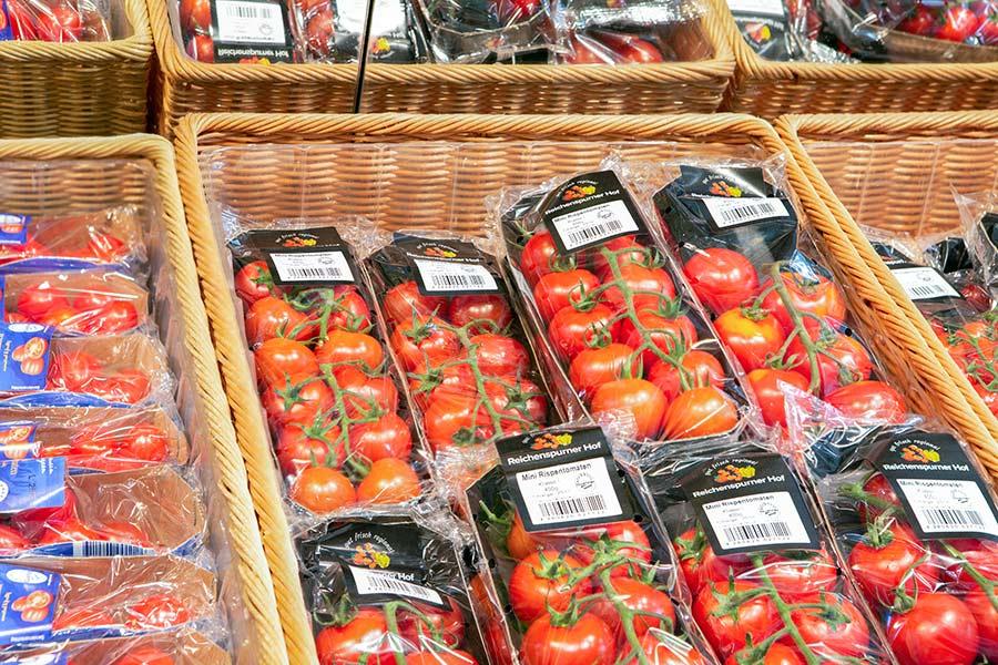 Tomaten aus dem Gewächshaus von Reichenspurner Tüssling